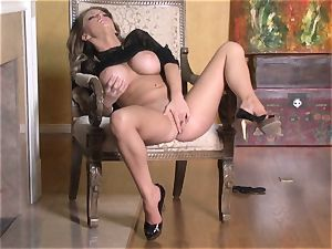 scorching Jenna Presley frolicking with her juicy pink humid twat until she spunks