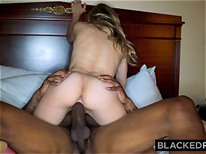 BLACKEDRAW Middle America nubile plumbs The first dark-hued dude She sees
