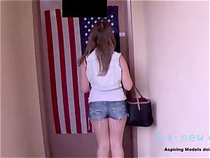 adorable teen GETS pulverized AT casting audition BY AGENT