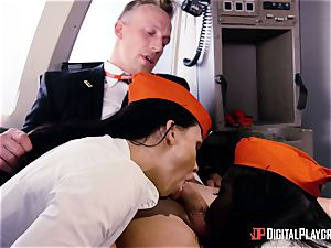 Aletta Ocean and Jai James pummeled in the cockpit