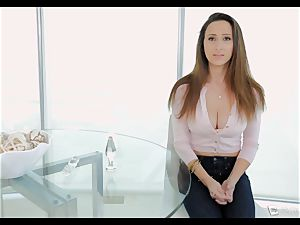Ashley Adams chokes as her booty is boinked