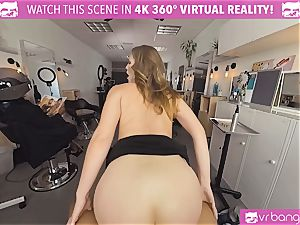 VRBangers.com Hairdresser Ella plowed rock hard and facial