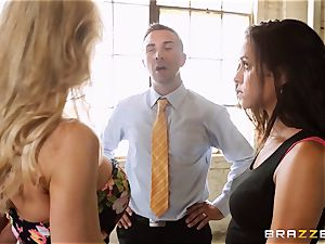 Brandi love lets ho-bo Abbey Lee Brazil pulverize her man