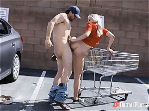 Trisha Parks bashed outdoors in the parking pile