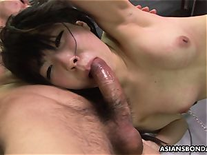 Roughed up asian nubile getting beaten by the boys
