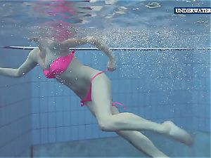 humid teenager Lera in the pool
