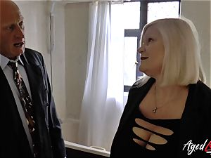 AgedLovE Lacey Starr humped hard with Sales Agent