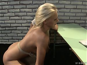 Mandy Bright and Tara pinkish string trussed on class table