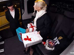 torn up IN TRAFFIC - Christmas car sex with Swedish honey