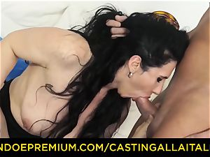 audition ALLA ITALIANA brunette nymphomaniac rough rectal fuckfest
