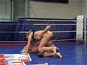 Cathy Heaven and Ivana Sugar get steaming in the ring