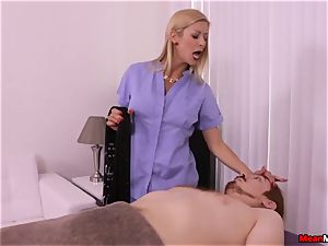 light-haired cougar throbbing prick Having Some painful orgasm