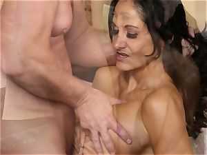 Ava Addams in the rubdown room