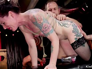 rectal broads servicing guests at sadism & masochism party