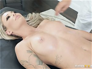 Isabelle Deltore feasting on a massive man sausage