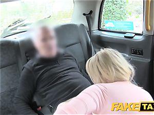 fake cab spectacular mum with hefty breasts deep throats manmeat