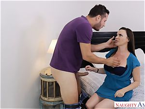 Dana DeArmond banged ball-sac deep in her adorable cunny