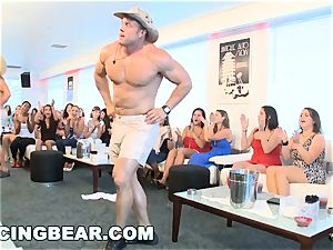 CFNM motel soiree with phat fuck-stick male Strippers