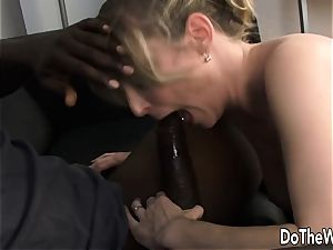 Lya pink multiracial and facial in front of spouse