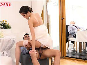 LETSDOEIT - StepMom pummels StepSon With husband Sleeping
