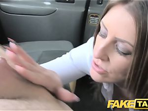 faux taxi office lady in stockings tossing salad buttfuck hump