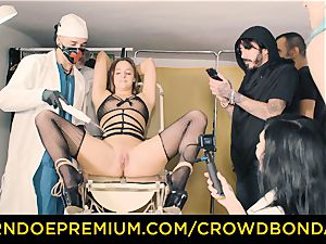 CROWD restrain bondage subjugated Amirah Adara first time bdsm