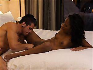 licking out ebony sweetheart Ashley pinkish in motel apartment
