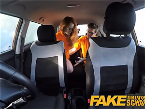 faux Driving college Swotty ginger student