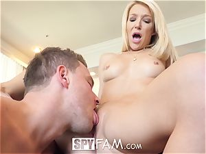 SpyFam Stepmom Laura Bentley drills stepson