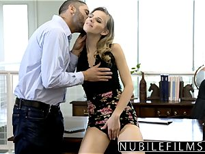 NubileFilms - Office cockslut humped Till She pumps out