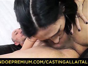 casting ALLA ITALIANA - messy new-comer ass fucking casting