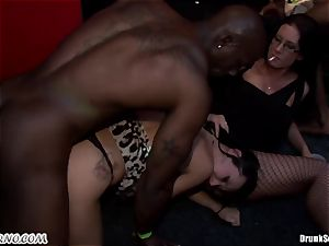 sizzling porn party for bitchy married chicks after work