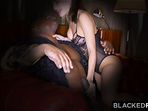 BLACKEDRAW wife enjoys his giant ebony dick a little too much