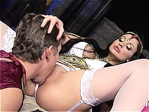 gang lovemaking at the museum with Aletta Ocean