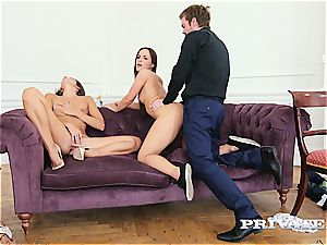 Kristi dark-hued debuts in an ass-fuck trio with Clea Gaultier