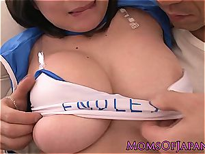 buxom asian cougar in uniform pussyfucked