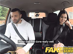 faux Driving college Jasmine Jae entirely naked romp in car