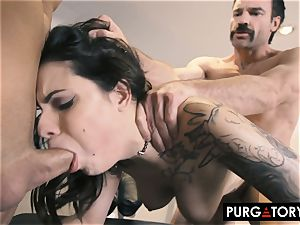 PURGATORY I let my wife fuck 2 studs in front of me