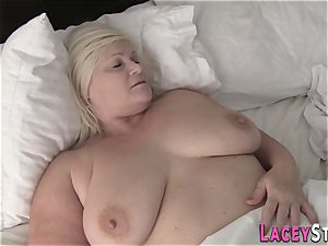 blond grandmother Lacey Starr rides boner