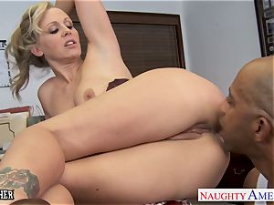 platinum-blonde teacher Julia Ann drilling a bbc