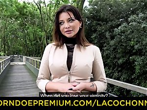 LA COCHONNE - jizm in gullet and double penetration for Anna Polina