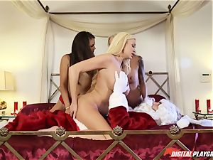 Festive foursome with Allie Haze, Nina Elle and Summer Brielle