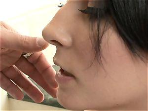 handsome black-haired Madison Ivy luvs chisel