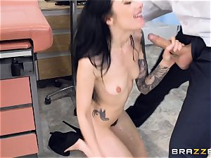 Marley Brinx gets her vagina deeply studied at the doctors