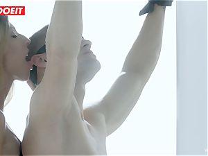 LETSDOEIT - mistress Lets slave poke Both Her slots