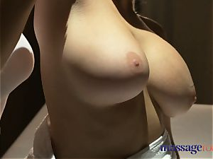 rubdown rooms light-haired girl/girl milfs with huge boobs