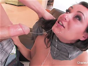black-haired beauty Charley gets a tough pulverizing