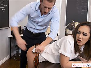 insatiable dangled lecturer Ryan pounds lil' Lily Jordan