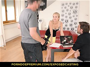 exposed audition - curvy stunner hook-up skill test in audition