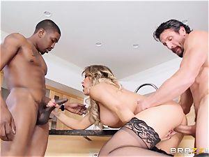 Capri Cavanni bangs her stud and his pal